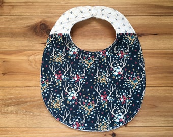 Bib ~ Two Toned/Quilted ~ Woodland//Tribal//Firefly//Hunting//Antlers//Outdoorsy