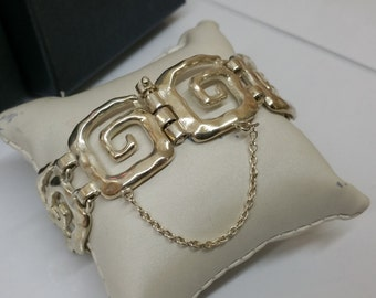 Silver bracelet 925 bracelet meander design SA282