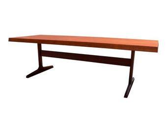 Vintage Danish Mid Century Modern Large Teak Coffee Table