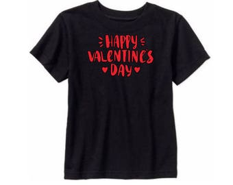 Happy Valentines Day Love Kids Toddler Children T Shirt Valentines Day Many Sizes Colors Custom Jenuine Crafts