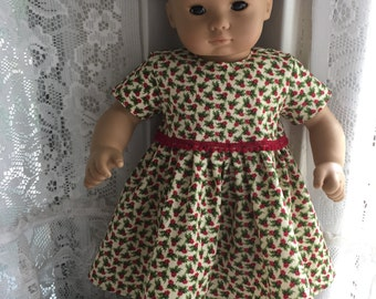 Bitty Baby holly berry dress