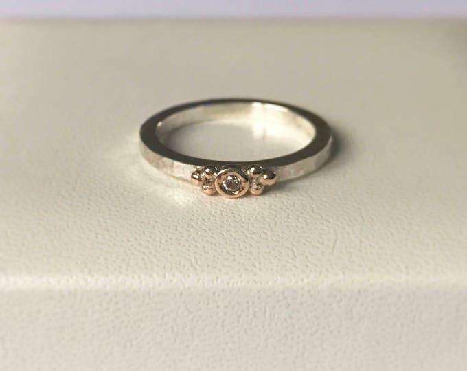 Pink Diamond stacking ring
