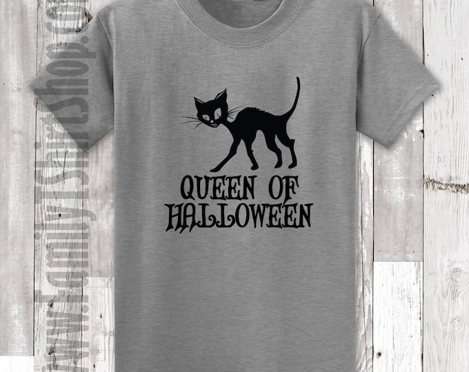 Queen of Halloween Cat T-Shirt