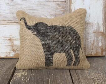 Miss Baba the Circus Elephant- Burlap Feed Sack Doorstop - Elephant Door Stop