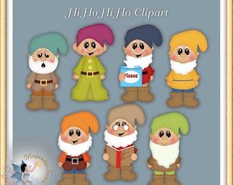 Seven Dwarfs Clipart, Hi Ho Hi Ho