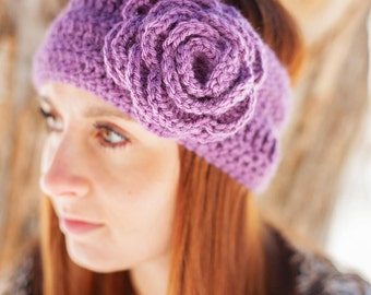 Instant Download - PDF PATTERN Crochet Callie Flower Earwarmer  - Permission To Sell Finished Items