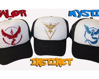 Pokemon GO Hats Team Instinct Mystic Valor & Ash Ketchum Adjustable Cap