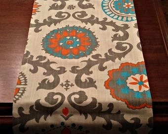 Clearance SALE Table Runner for Holiday -Wedding- - Decor Orange Suzani Two left 13 x 72