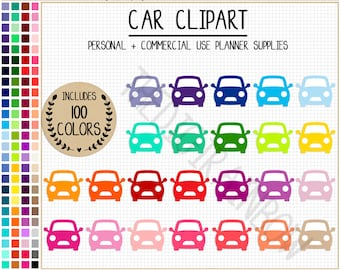 SALE 100 CARS clipart vehicle clipart travel planner stickers car stickers transport clipart rainbow Erin Condren printable planner sticker