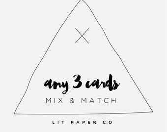 Mix and Match // Any 3 Greeting Cards