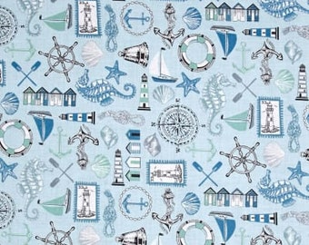 Planner Cover - in Andover Beachcomber fabric - F2