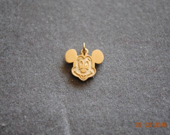 Mickey Mouse Head in Gold Tone Charm