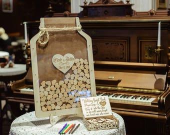Mason Jar, Wedding Guest Book, Wedding Guest Book Alternative, Wedding , Mason Jar Wedding, Wedding Guestbook, Guest Book, Guestbook, Gift