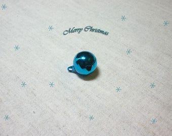 1 Bell 16 mm brilliant blue Christmas decoration
