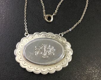 Victorian silver necklace ,upcycled ,converted