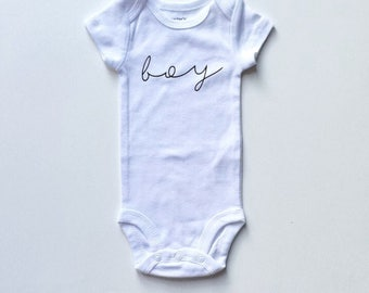 BOY- Gender Reveal Bodysuit, custom bodysuit, monthly milestones, personalized baby gift, baby apparel, baby clothes, baby gift, baby clothe