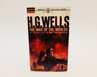 Vintage Sci Fi Book The War of the Worlds by H. G. Wells 1964 Paperback