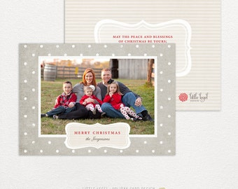 Personalized holiday cards- photo christmas cards- sophisticated dots