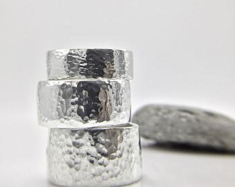 Sterling Band - Hammered Silver Band - Wide silver band - Statement Silver ring - Hammered Silver Ring - Sterling Silver Ring - Wide Silver