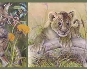 Tiger Lion GL76372 Wallpaper Border