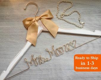 Wedding Hanger, Bridal Hanger, Dress Hanger Wire, Rustic Wedding, Personalized Hanger, Engagement Party, future mrs hanger, Wedding Dress