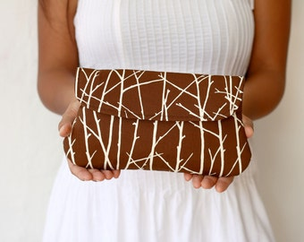 Brown clutch - simple clutch Twiggy in Brown