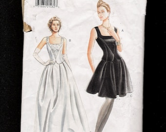 Vogue Pattern 9246 Evening Length  Flared Pleated Skirt with Diamond Shaped Top  1995