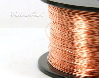 Copper Wire, 26 Gauge, Dead Soft, Solid Copper Wire, Jewelry Quality Copper Wire, Jewelry Wire Wrapping, High, Sold in 50 Ft. Length, 006