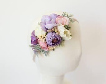 girls headband, toddler headband floral, baby flower headband, Spring floral headband, floral crown toddler, baby flower crown, photo prop