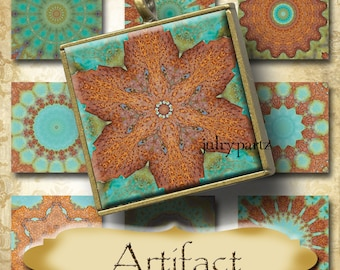 ARTIFACT•1x1 Square Images•Printable Digital Images•Cards•Gift Tags•Stickers•Magnets•Digital Collage Sheet