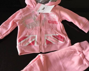 jogging girl 3months NEW pink