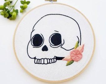 Skull Embroidery Hoop