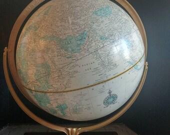 "Vintage Cram's 16"" Political Terrestrial Atlas with base for book."