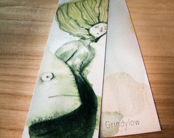 Illustrated Bookmarks - Grindylow, Chestnut Boy, Skyfall