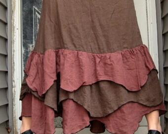 Wavy Ruffle Skirt