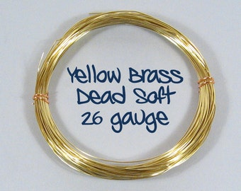 26ga 25ft DS Yellow Brass Wire