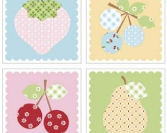 Sew Cherry Magnets by Lori Holt of Bee in My Bonnet- Set of 4