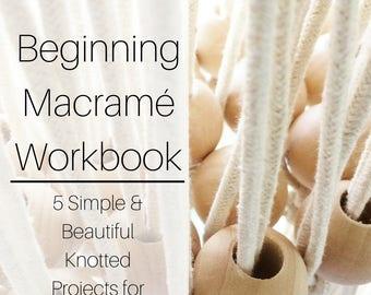 Macrame Patterns Workbook for Beginners | Macrame Book | Macrame Patterns Tutorial | How To Macrame | Macrame DIY | Macrame Wall Hanging