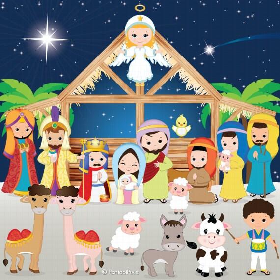 Nativity clipart Nativity clip art Christmas clipart Jesus