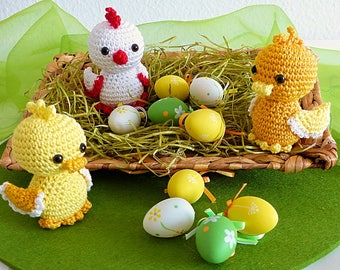 PDF: Easter Chicklet and Ducklings - Amigurumi Crochet Pattern