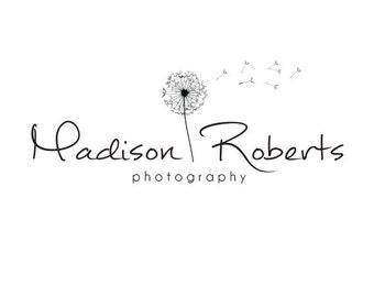 Premade Logo Design & Photography Watermark - Logo Template - Dandelion Logo - Watermark Design - Premade Photography Logo - Flower Logo 488