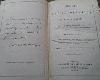 History of the Reformation of the Sixteenth Century,1847,Edinburgh, D'AUBIGNE