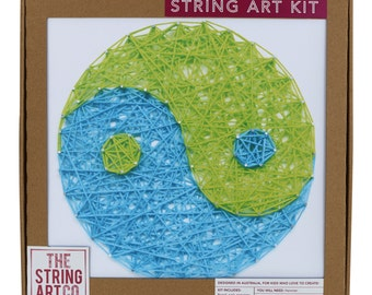 String Art Kit: Yin & Yang, Craft Kit, Craft Gift, DIY Craft