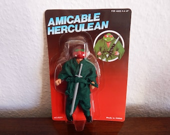 Rare Amicable Herculean Vintage Action Figure! TMNT/Masters of the Universe Knock-Off/Turtles