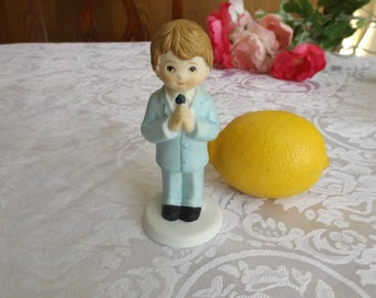 Praying boy figurine from The Loving Memories Collection.Gift idea.