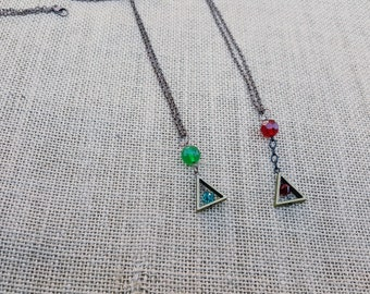 Triangle and Bead necklace