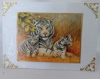 hand made tiger card