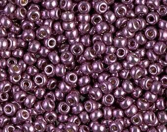 8/0 Miyuki Duracoat Galvanized Eggplant, 4432, Duracoat Galvanized Eggplant 8-4220 Miyuki, 15 Grams