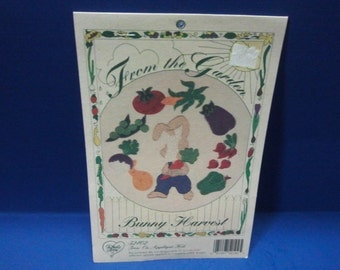 Iron-on Fabric Applique Kit- Bunny Harvest