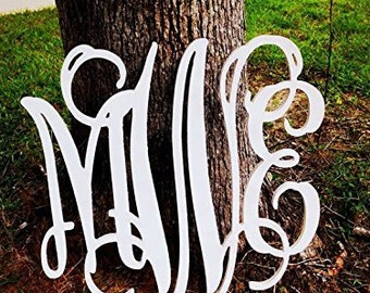 Wooden Monogram- Wall Letters- Wall Hanging- Nursery Decor- Nursery Letters- Home Accent- Wedding Monogram- GuestBook- Wedding Decor